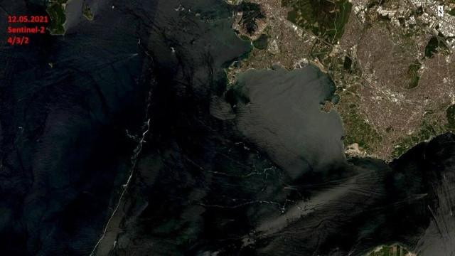 Marmara Denizi'nde son durum uzaydan görüntülendi