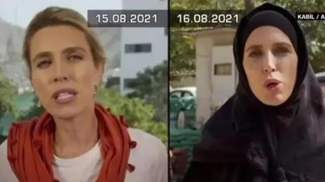 Afganistan'daki değişim bir gün arayla canlı yayına da yansıdı