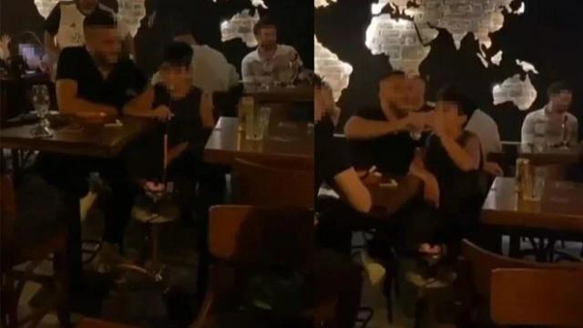 Aydın'da tepki çeken görüntü: Çocuğa hem alkol hem nargile içirdiler