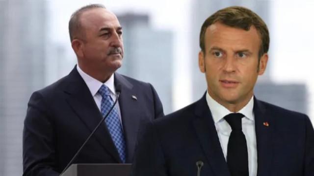 Çavuşoğlu'ndan Macron'un Türkiye'yi suçlayan sözlerine tepki!