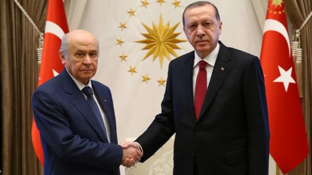 Cumhurbaşkanı Recep Tayyip Erdoğan ve MHP Lideri Devlet Bahçeli'nin görüşmesi sona erdi