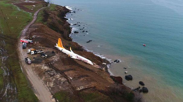 Trabzon Havalimanı'nda yolcu uçağı pistten çıktı - Page 1