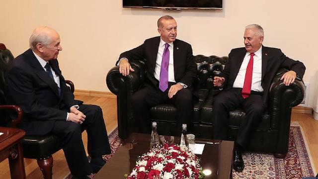 Erdoğan ve Bahçeli'nin ittifak görüşmesi açıklaması