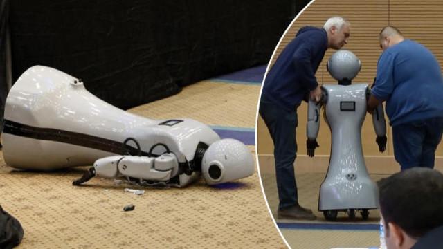 Konyalı robot sahneden düşüp parçalandı!