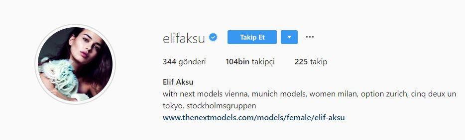 Elif Aksu Instagram