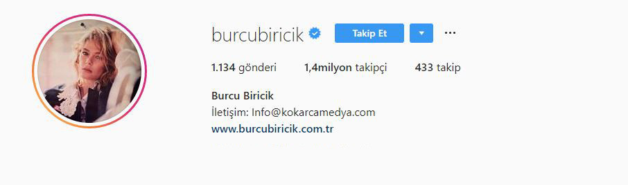 Burcu Biricik Instagram
