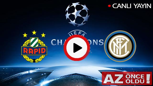 CANLI İZLE | Rapid Wien Inter maçı şifresiz canlı izle | Rapid Wien Inter CANLI İZLE