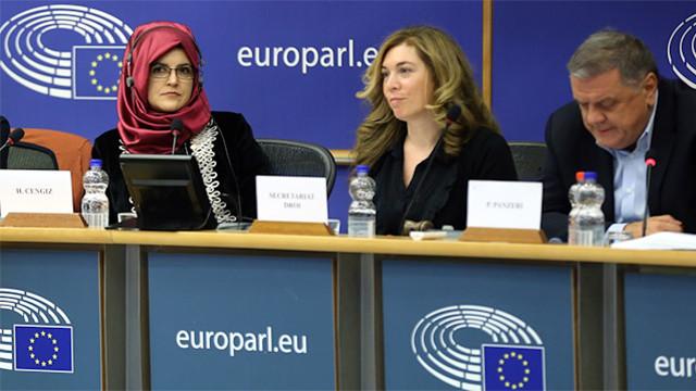 Hatice Cengiz'den Avrupa Parlamentosu'na ziyaret
