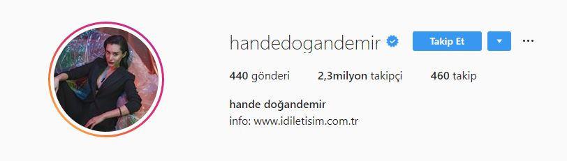 Hande Doğandemir Instagram