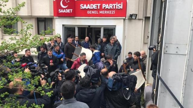 Fatih Erbakan şikayet etti, Saadet Partisi'ne haciz geldi