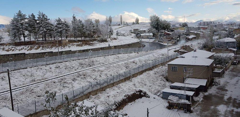 Erzurum'da halk güne kar ile uyandı - Sayfa 1