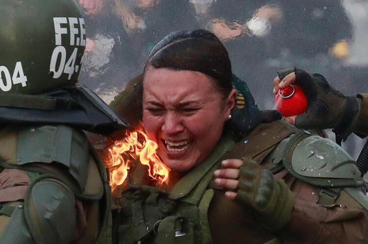 Şili'de protestolar devam ediyor - Sayfa 1