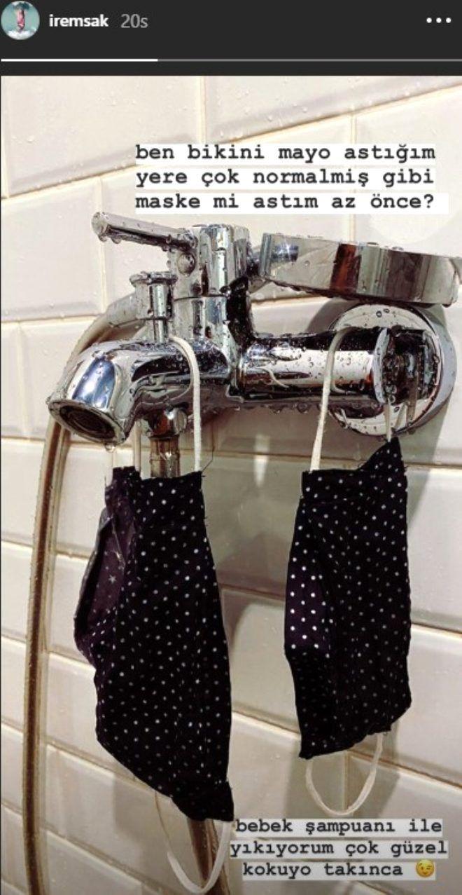 İrem banyosundan paylaştı: Bikini, mayo astığım yere maske astım - Sayfa 3
