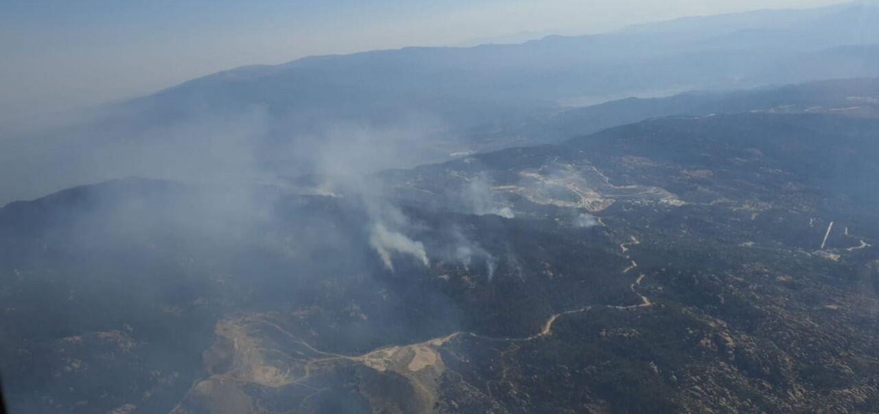 Orman yangınını söndürme çalışmaları sürüyor - Sayfa 1