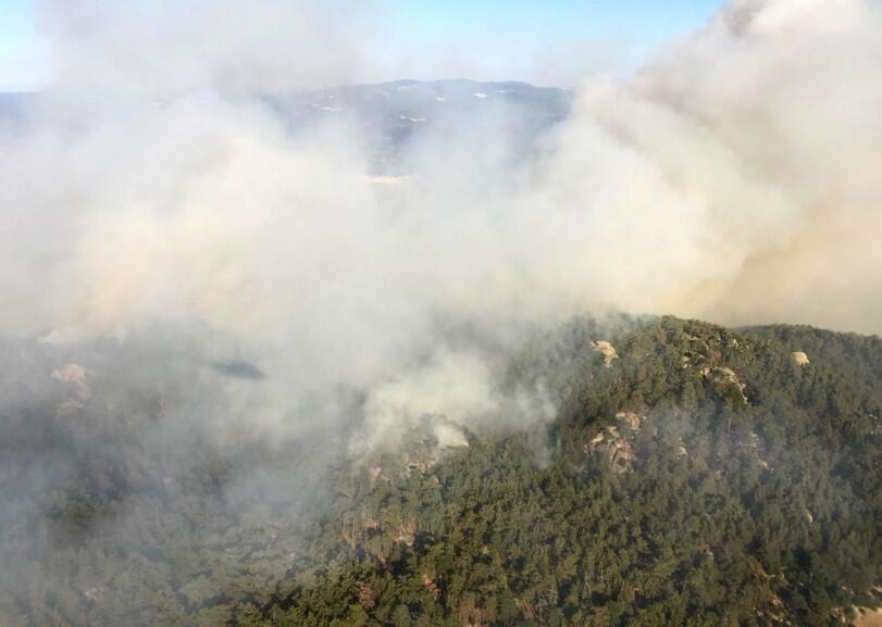 Orman yangınını söndürme çalışmaları sürüyor - Sayfa 4