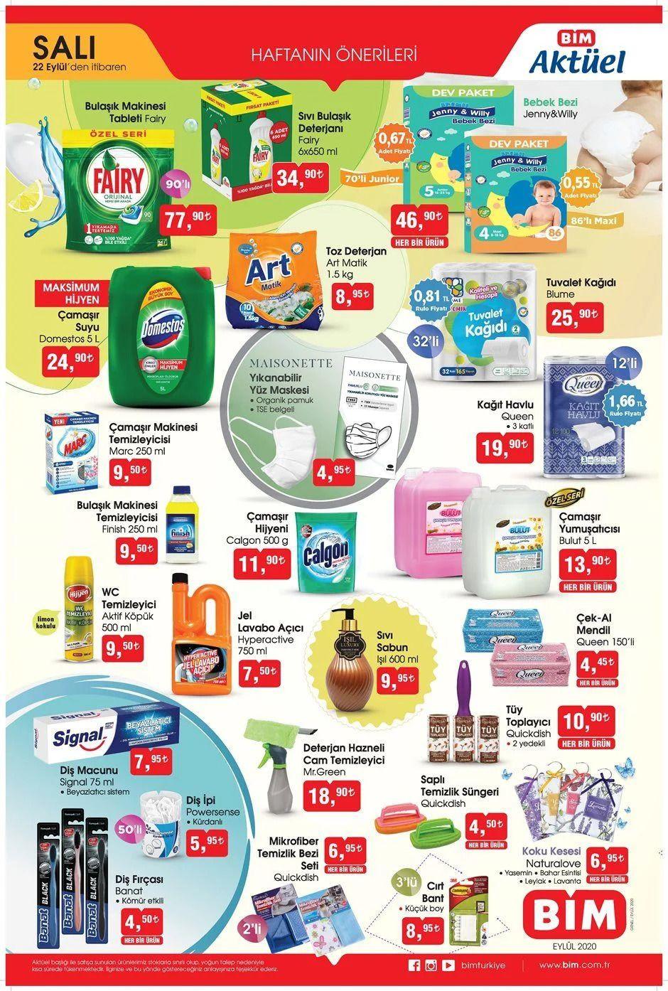 BİM 22 Eylül 2020 aktüel ürünler - Sayfa 1