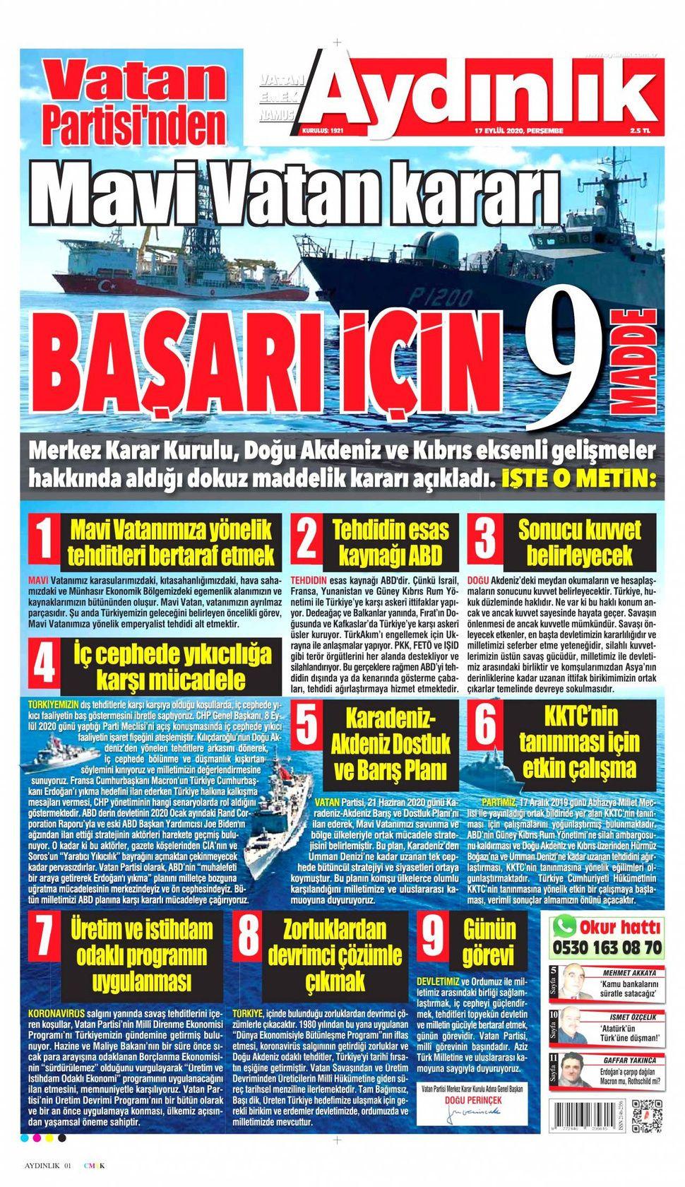 17 Eylül 2020 Perşembe gazete manşetleri! - Sayfa 3