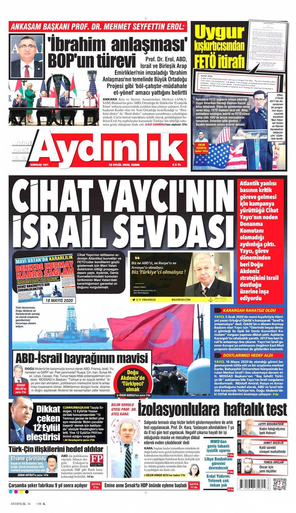 18 Eylül 2020 Cuma gazete manşetleri! - Sayfa 3