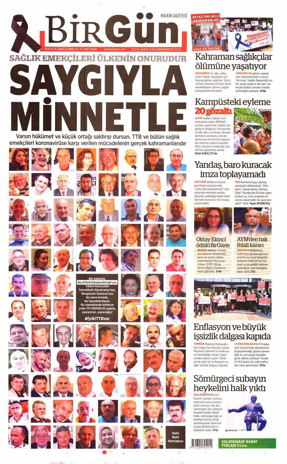 18 Eylül 2020 Cuma gazete manşetleri! - Sayfa 4
