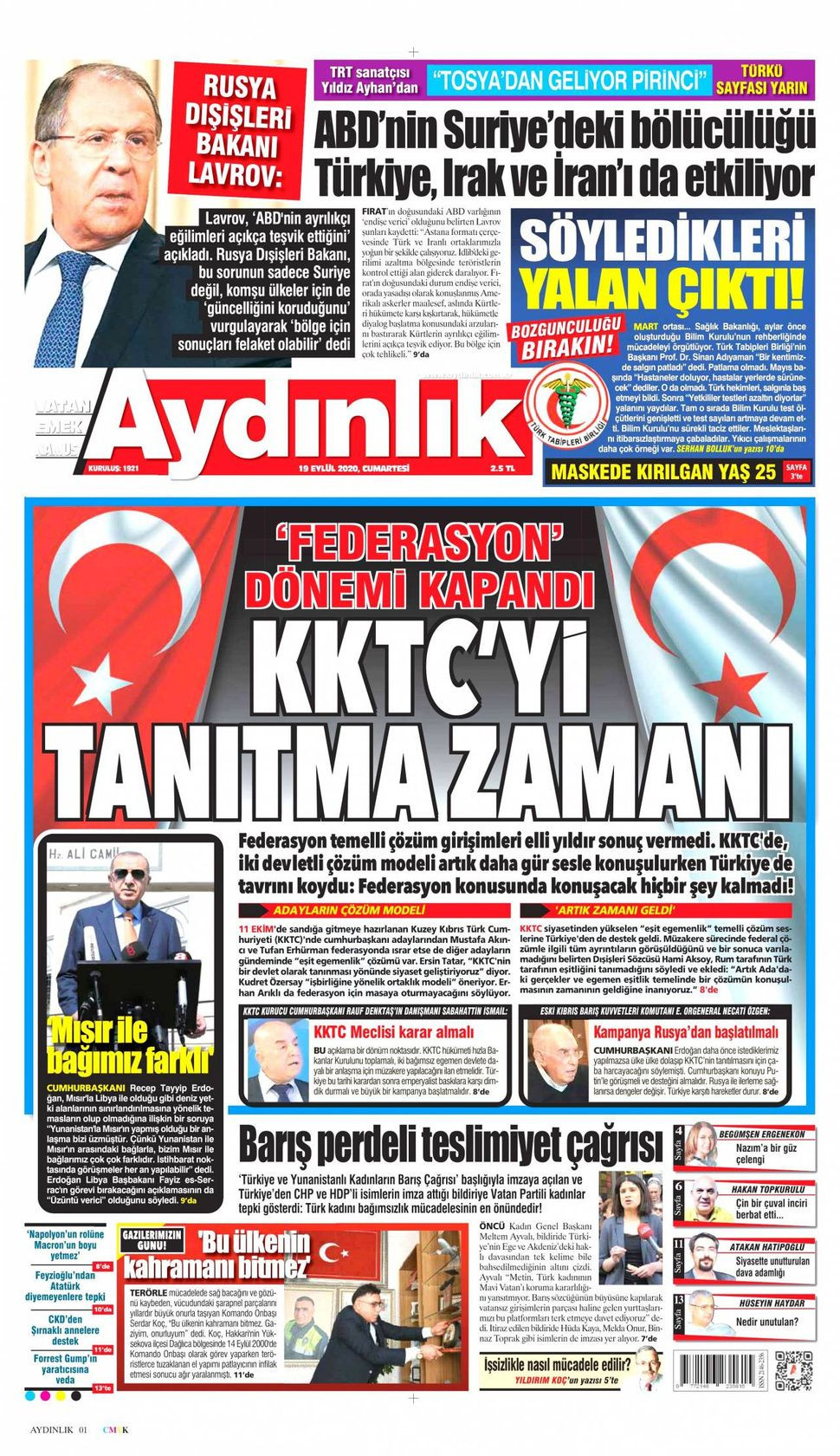 19 Eylül 2020 gazete manşetleri! - Sayfa 3