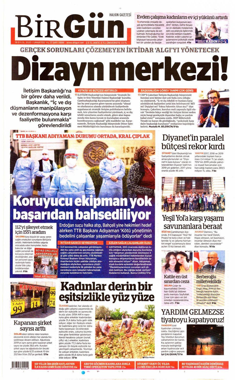 19 Eylül 2020 gazete manşetleri! - Sayfa 4