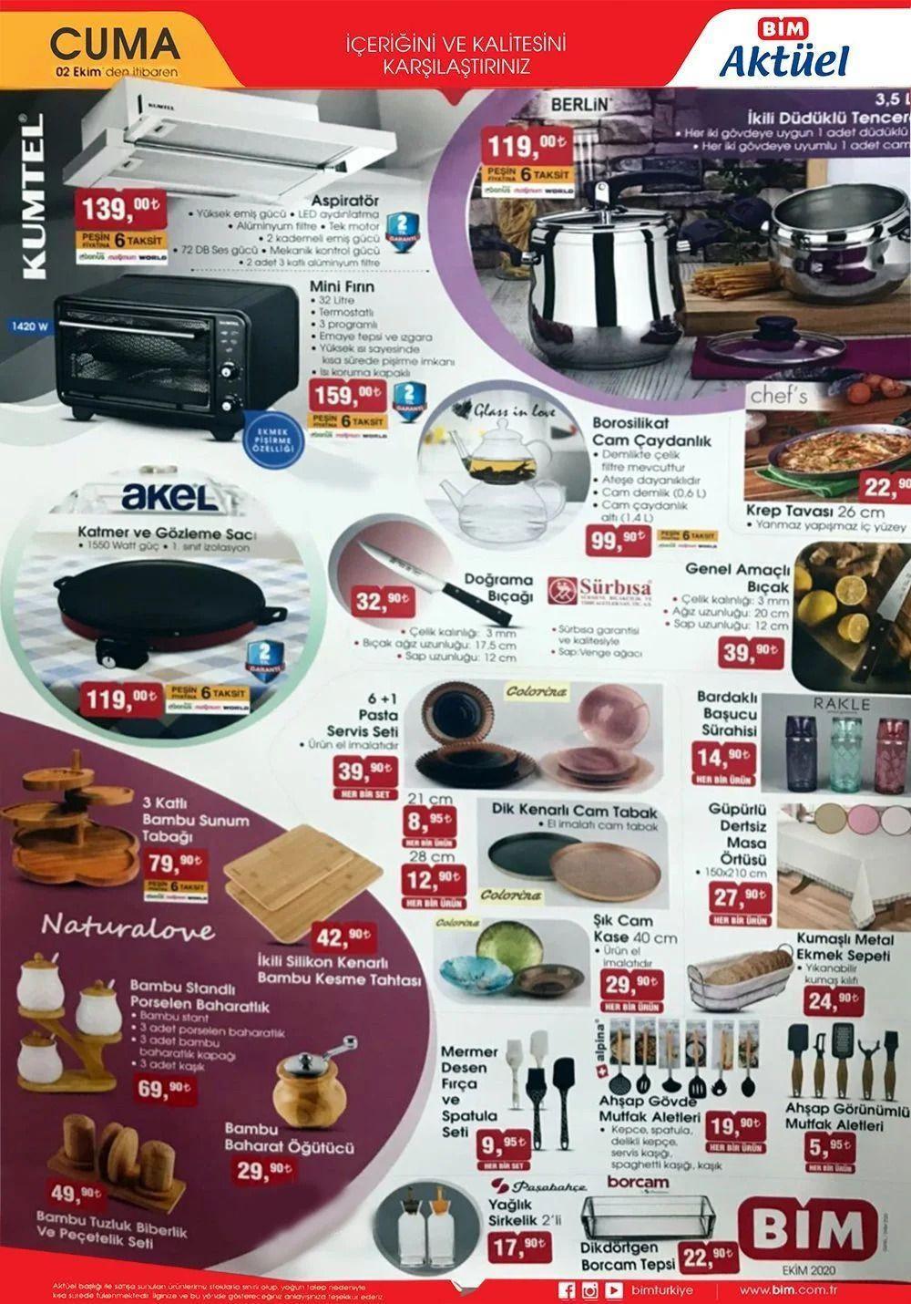 2 Ekim 2020 Cuma BİM indirimli ürünler! BİM katalog fiyat listesi - Sayfa 1