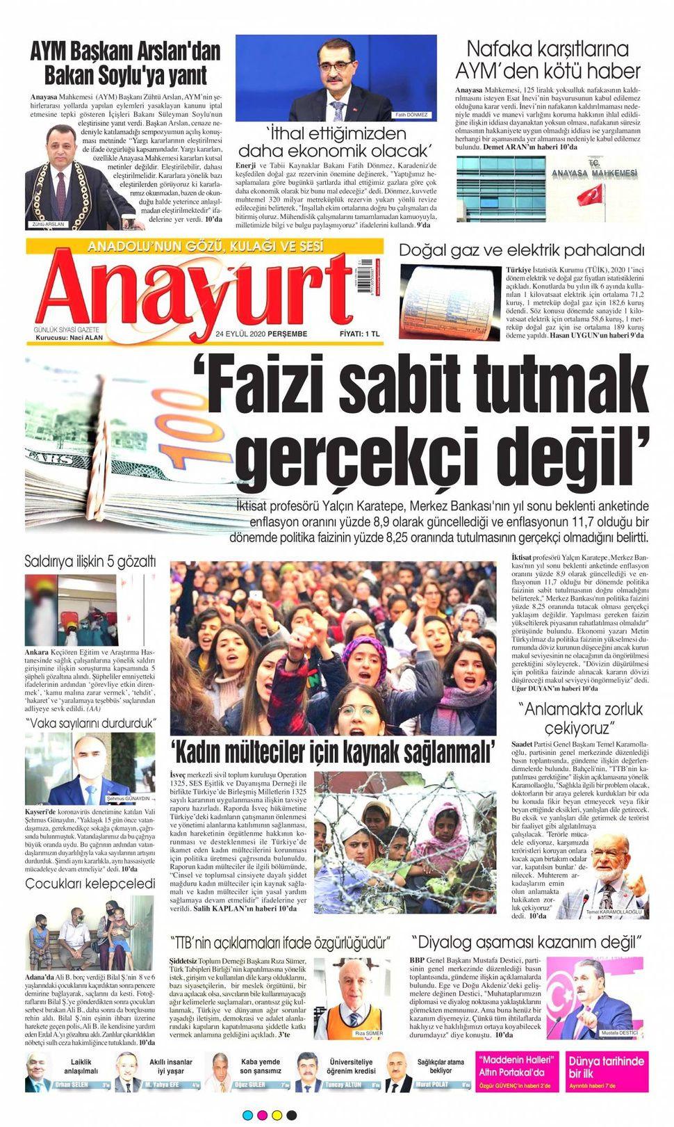 24 Eylül 2020 gazete manşetleri! - Sayfa 2