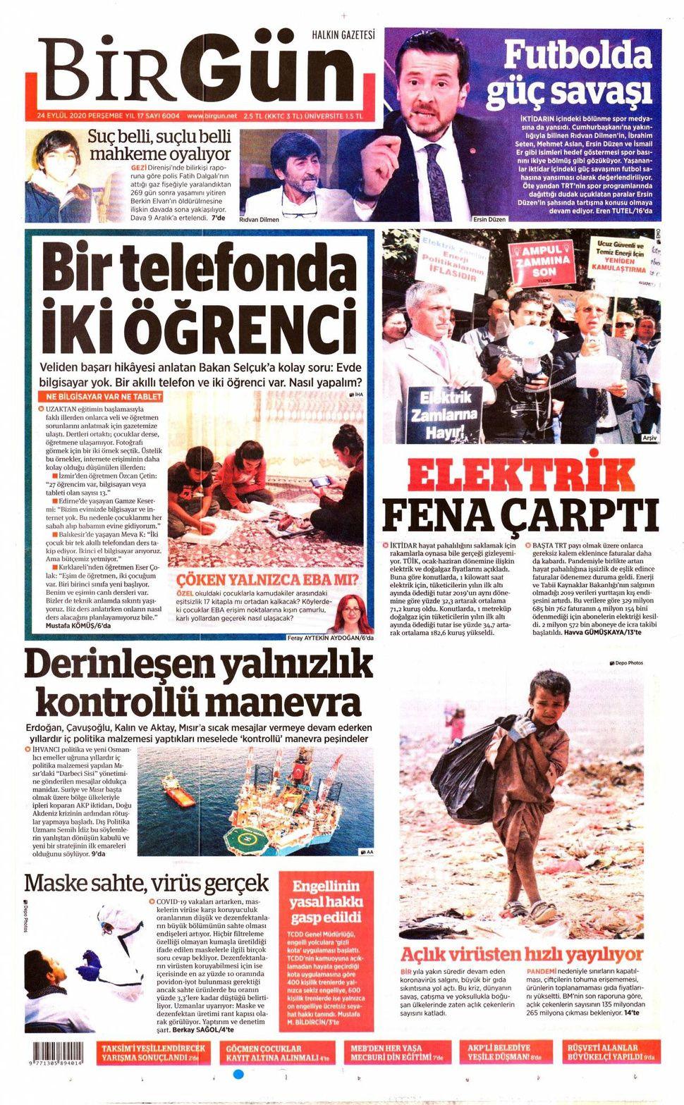 24 Eylül 2020 gazete manşetleri! - Sayfa 4