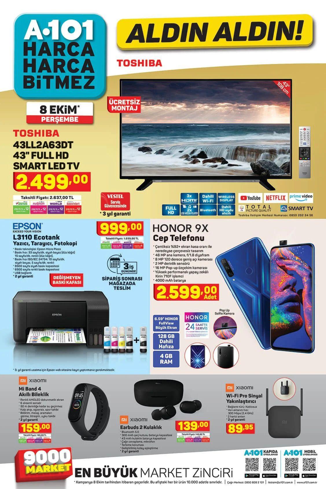 8 Ekim 2020 A101 aktüel ürünler! A101 katalog fiyat listesi - Sayfa 1