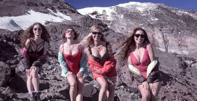 Ukraynalı kadın dağcılar, Türkiye'nin çatısı Ağrı Dağı'nda böyle poz verdiler - Sayfa 1