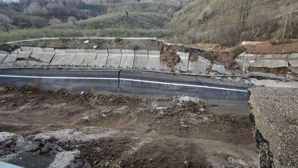 D-655 Karayolu'nun 85 metrelik bölümü çöktü - Sayfa 1