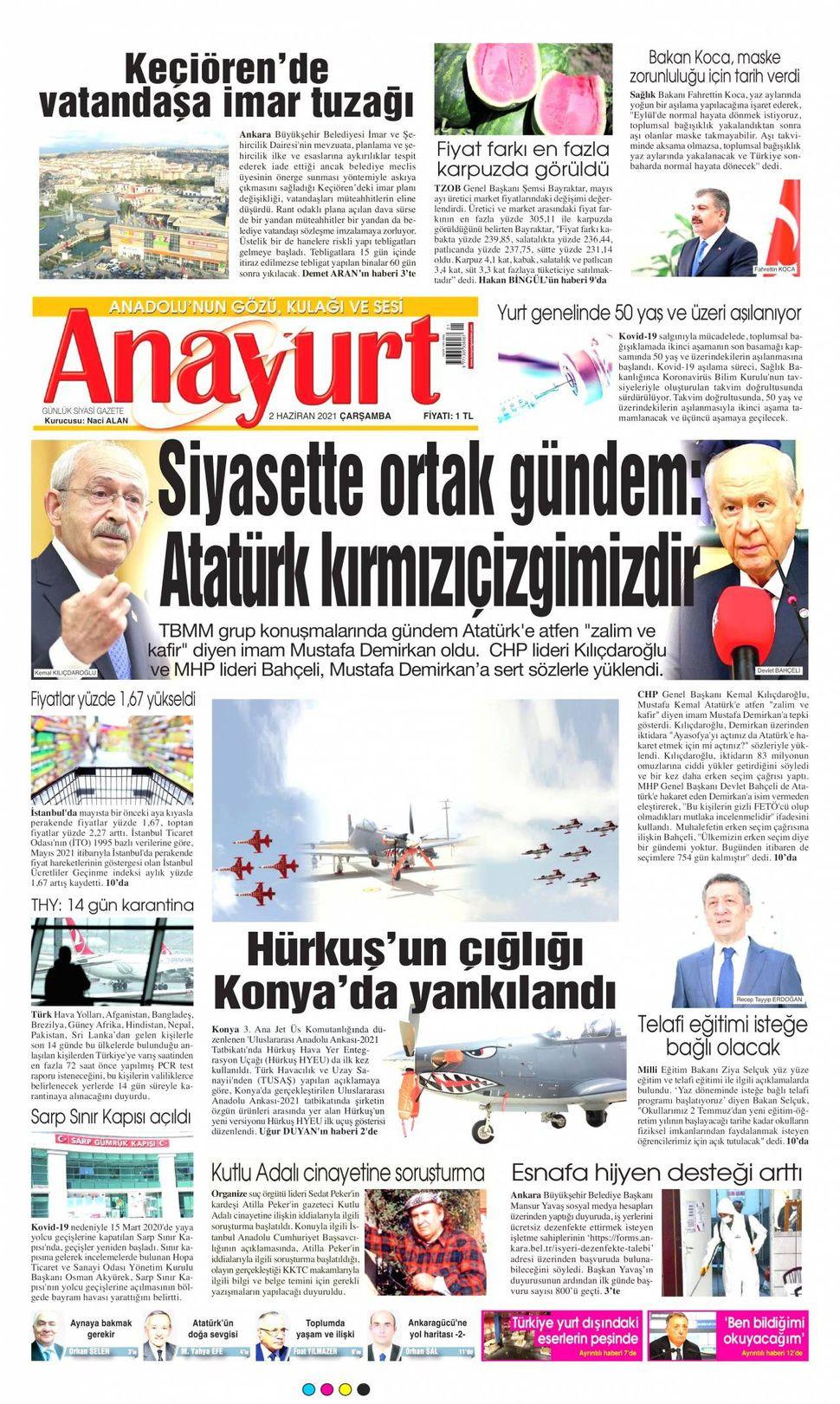 2 Haziran 2021 gazete manşetleri! - Sayfa 2