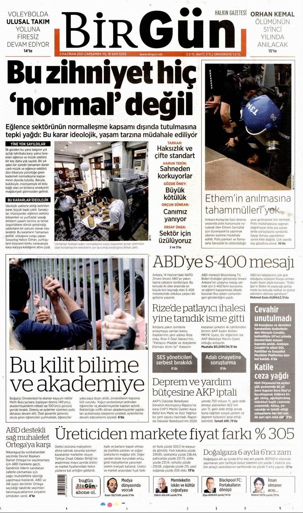 2 Haziran 2021 gazete manşetleri! - Sayfa 4