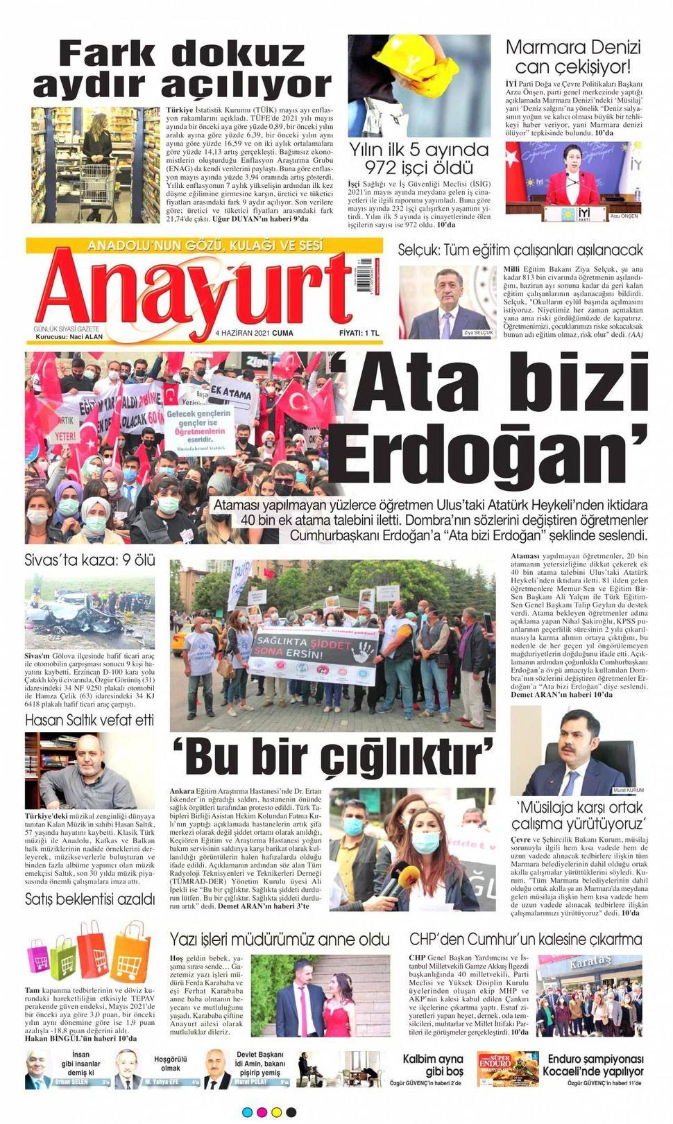 4 Haziran 2021 gazete manşetleri - Sayfa 2