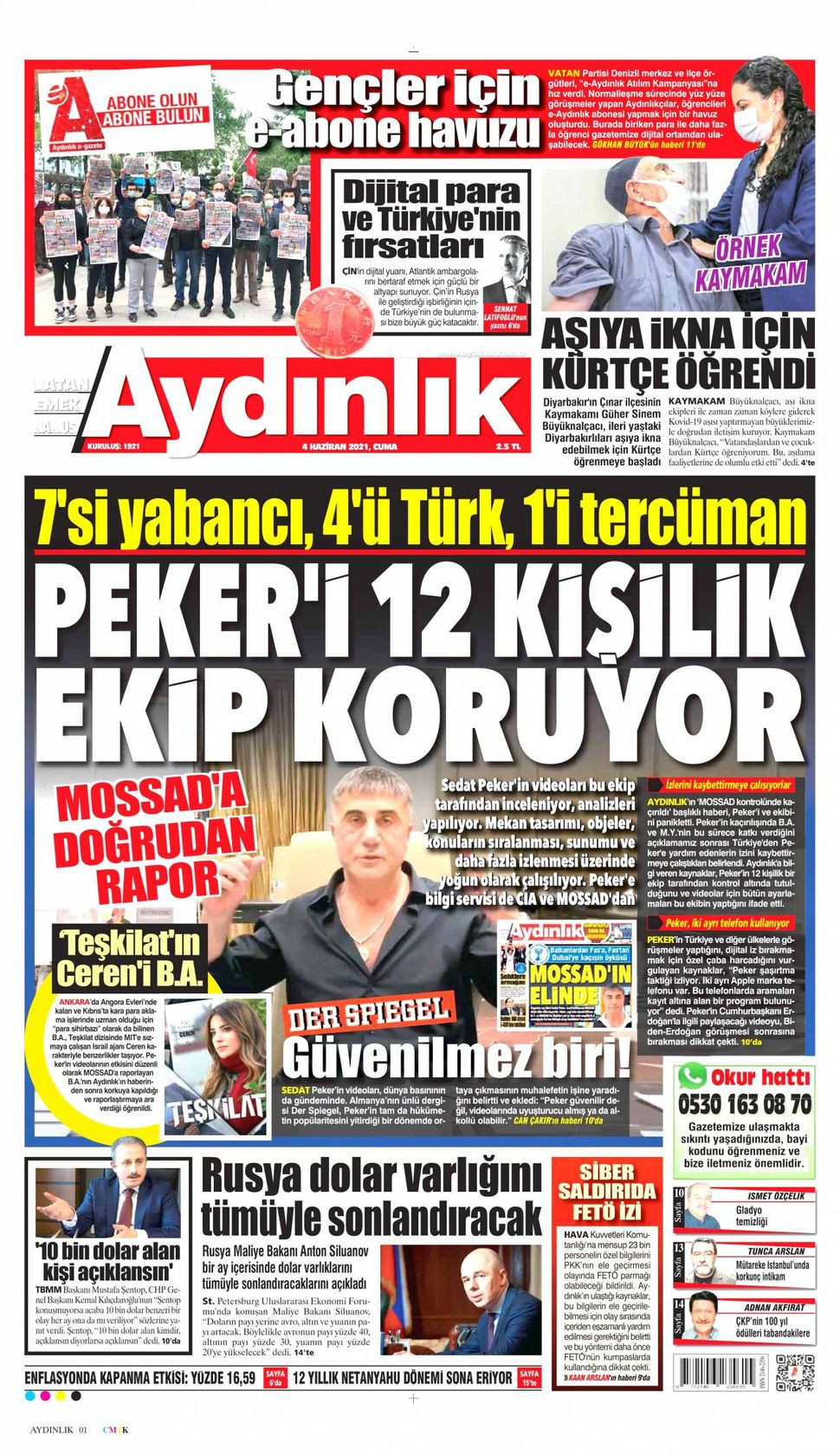 4 Haziran 2021 gazete manşetleri - Sayfa 3