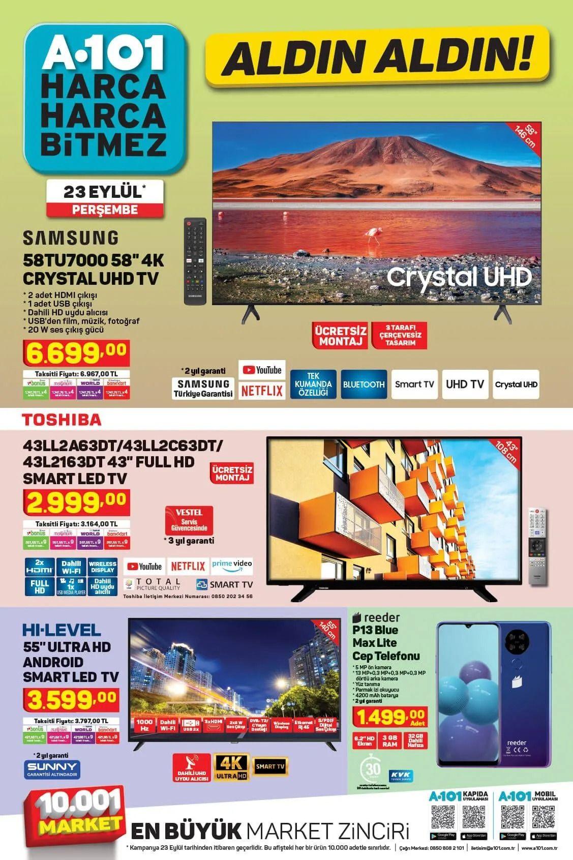 A101 23 Eylül 2021 aktüel ürünler kataloğu Perşembe fiyat listesi - Sayfa 1
