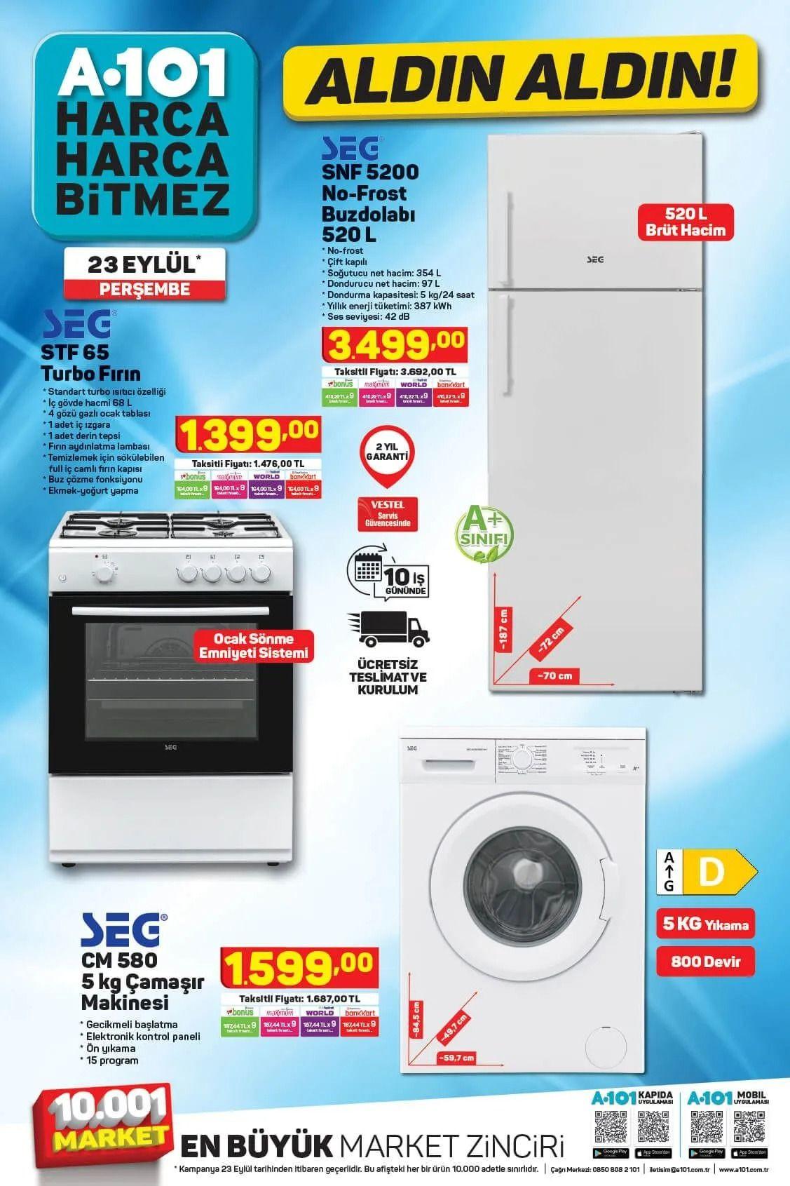 A101 23 Eylül 2021 aktüel ürünler kataloğu Perşembe fiyat listesi - Sayfa 2