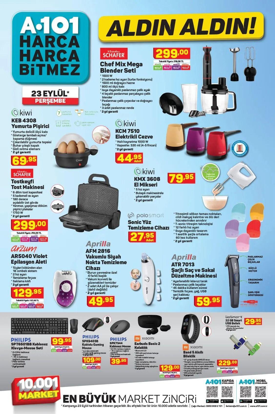 A101 23 Eylül 2021 aktüel ürünler kataloğu Perşembe fiyat listesi - Sayfa 3