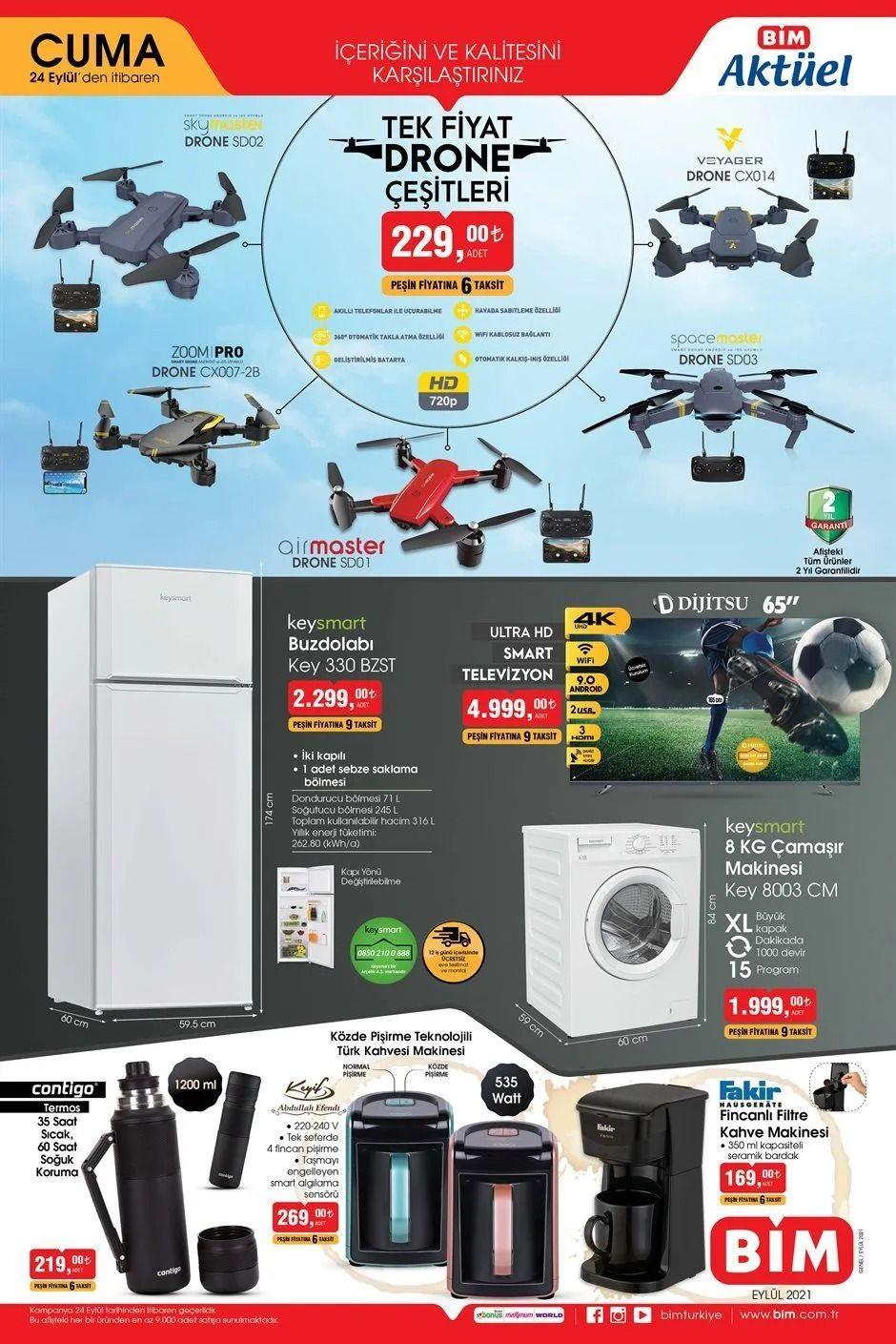 BİM 24 Eylül 2021 aktüel ürünler kataloğu Cuma fiyat listesi - Sayfa 1