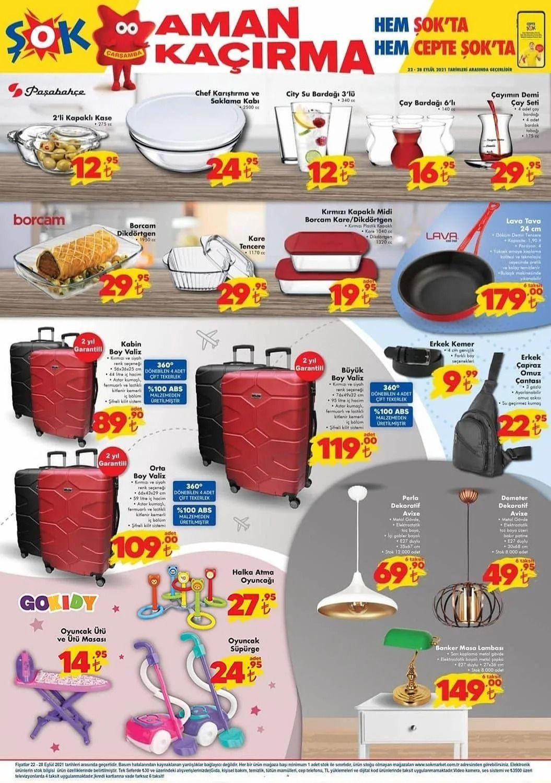 ŞOK 22 Eylül 2021 aktüel ürünler kataloğu Çarşamba fiyat listesi - Sayfa 1