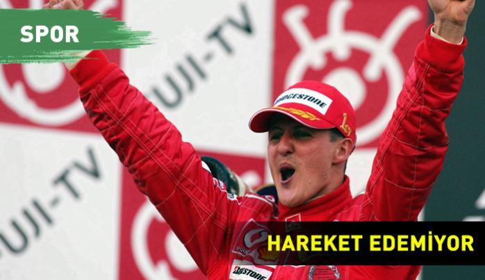 Michael Schumacher, hareket edemiyor